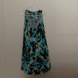 Apt. 9 Sleeveless Blue Dress with Beaded Front